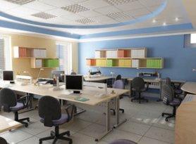 Эргономичный офисный интерьер
